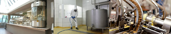 A FULL RANGE OF DISINFECTANTS PRODUCTS FOR FOODSTUFF INDUSTRIES
